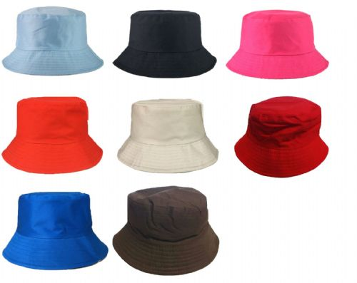 Adults Bucket Hat Summer Fishing Fisher Beach Festival Sun Cap 100% Cotton